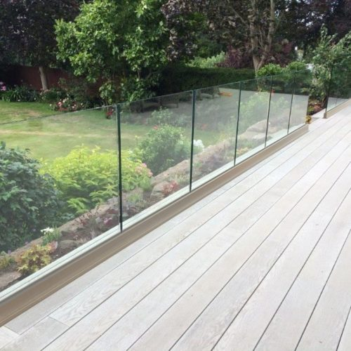 frameless glass base rail system toronto