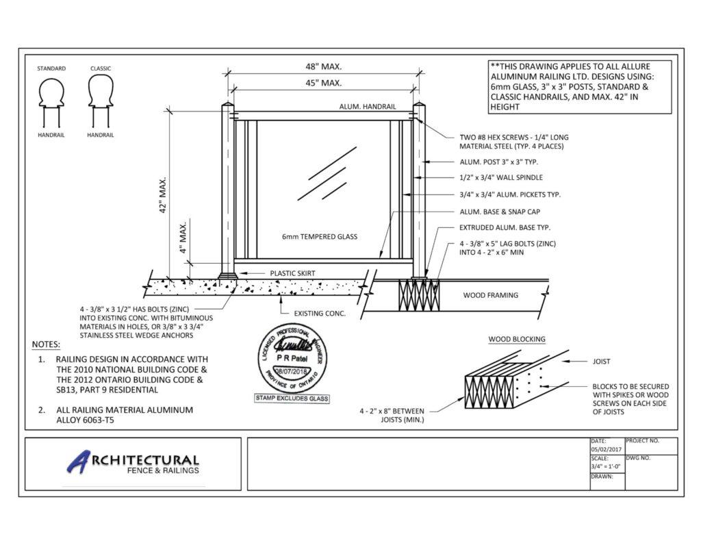 aluminum glass railings toronto